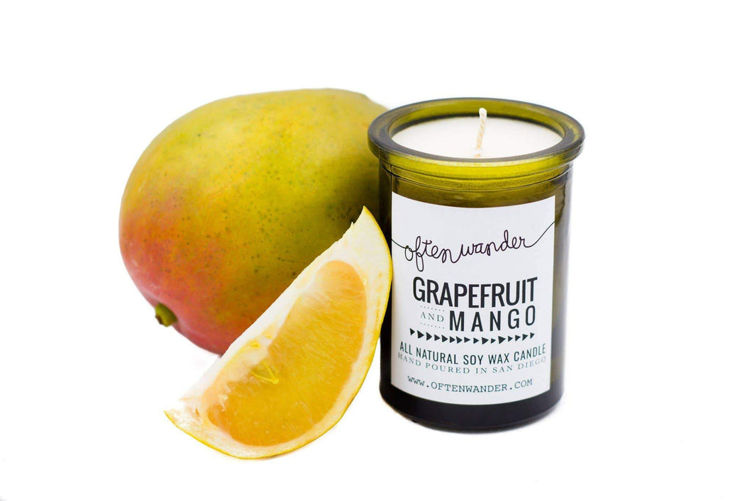 Often Wander - Apothec Candle - Grapefruit and Mango 6 oz