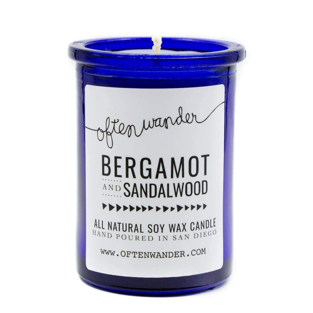 Often Wander - Apothec Candle - Bergamot and Sandalwood 6 oz