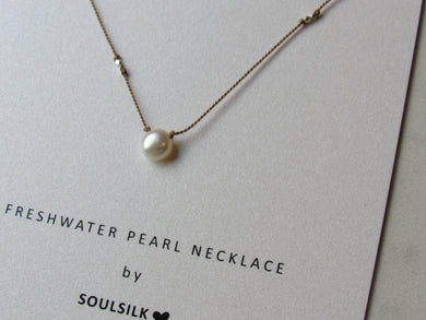 Soulsilk - Freshwater Pearl Silk  Necklace Card