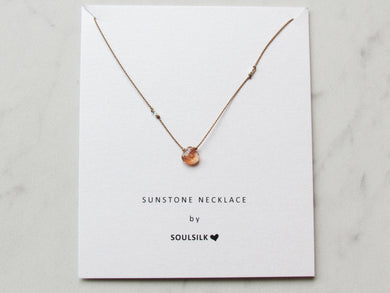 Soulsilk - Sunstone and Silk Necklace Card