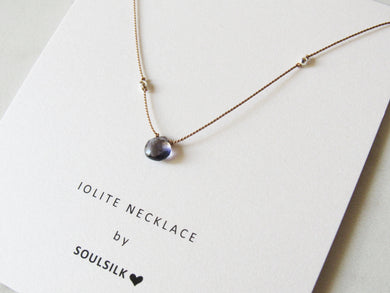 Soulsilk - Iolite Silk Necklace Card