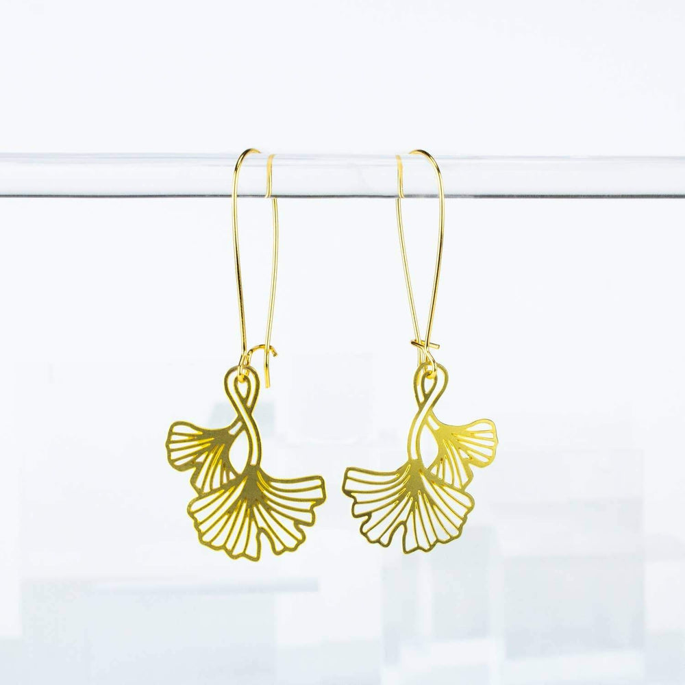 A Tea Leaf Jewelry - Ginkgo Leaves Earrings