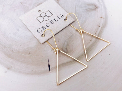 Cecelia Designs Jewelry - Basic Triangle Hoop Earrings