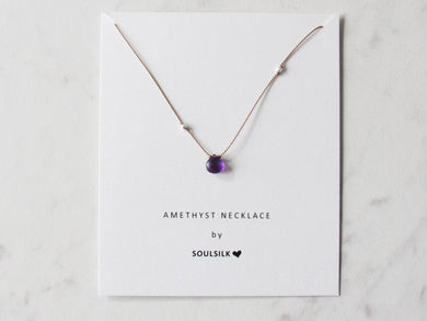 Soulsilk - Amethyst Silk Necklace Card