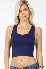 Load image into Gallery viewer, Cropped Racerback Tank Top