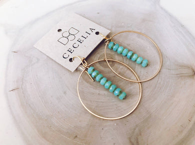 Cecelia Designs Jewelry - Drop Hoop Earrings