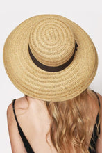 Load image into Gallery viewer, Straw Sun Hat With Contrast Ribbon