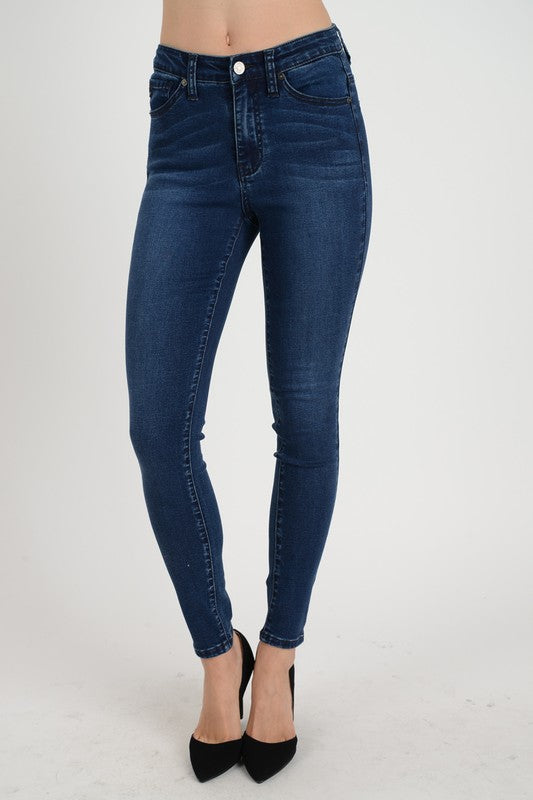High Rise Dark Skinny Jeans