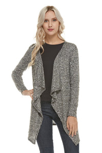 Lightweight Rib Knit Open Cardigan