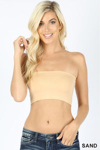 "7"" Seamless Solid Bandeau"
