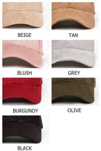 Load image into Gallery viewer, Casual Faux Suede Baseball Cap