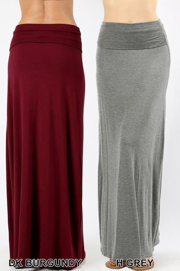 Relaxed Fit Maxi Skirt