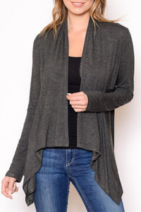 Solid Open Cardigan