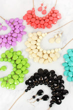Load image into Gallery viewer, Teardrop Bubble Bib Necklace and Earrings Set