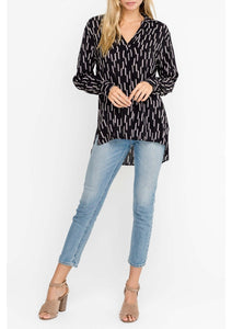 Black Oversized Stripe Shirt