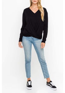 Gathered Sweater Black