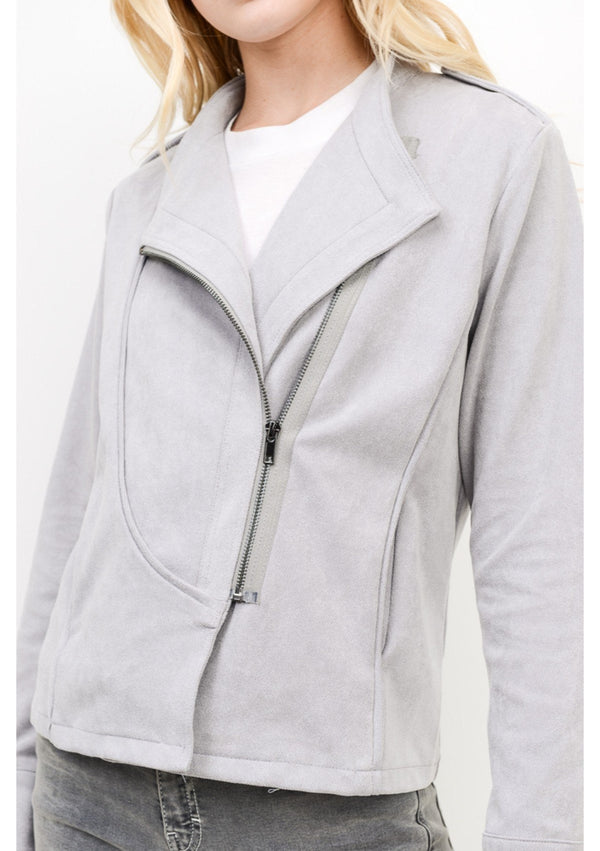 Asymmetrical Grey Jacket