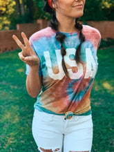 Load image into Gallery viewer, PREORDER Acid Wash Tie Dye USA T-Shirt