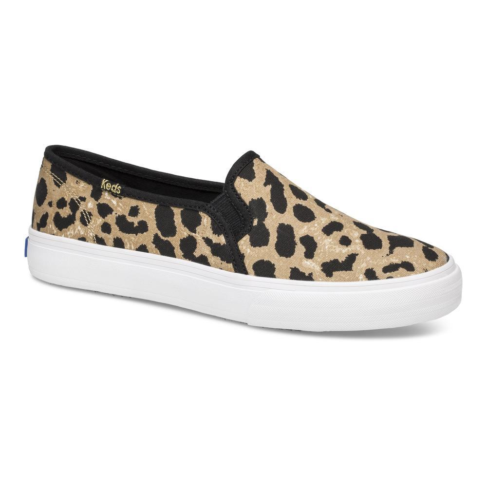 Keds Double Decker Leopard Slip On Sneaker