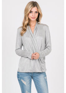 Jersey Surplice Top