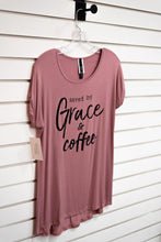 Load image into Gallery viewer, T-Shirt Saved by Grace and Coffee