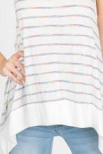 Load image into Gallery viewer, Striped Sharkbite Tank with Banded Hem
