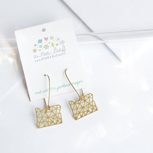 A Tea Leaf Jewelry - Oregon Geometric Earrings | Brass