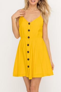 Strappy Dress with Buttons