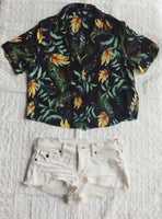 Island Breezy Button Up, Tops - Black Sugar Bazaar
