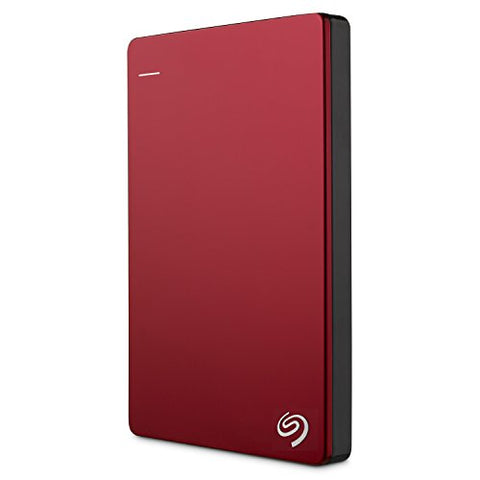 Seagate Backup Plus Slim 2TB Portable External Hard Drive USB 3.0, Red + 2mo Adobe CC Photography (STDR2000103)