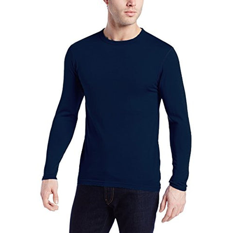 Minus33 Merino Wool Clothing Men's Chocorua Midweight Crew T-Shirt, Medium, Navy