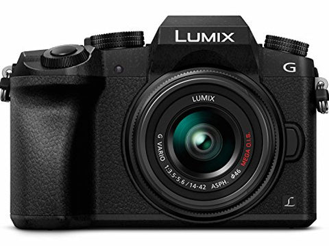 PANASONIC LUMIX G7 4K Mirrorless Camera, with 14-42mm MEGA O.I.S. Lens, 16 Megapixels, 3 Inch Touch LCD, DMC-G7KK (USA BLACK)