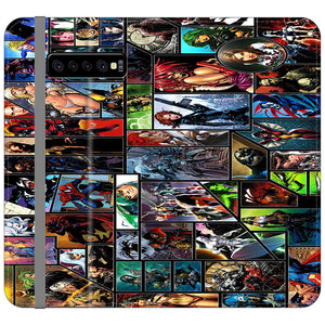 Marvel The Superheroes Samsung Galaxy S10 Plus Flip Case | Zooocase