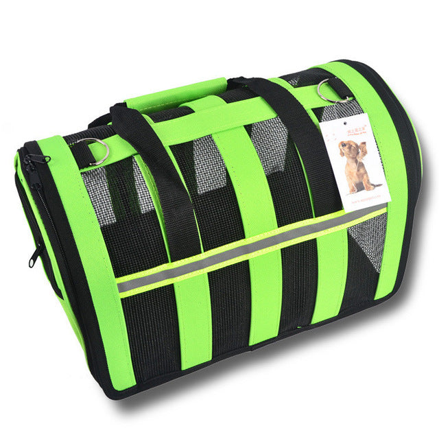 New Arrival Fashion Pet Dog Travel Bag Breathable Foldable Mesh Oxford Cloth Small Dog Cat Carriers Tote Bag Summer Spring