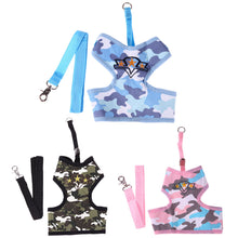 Pet Products Camouflage Dog Leash Harness Puppy Cat Dog Harness for Dogs Large Small Pets Chest Strap S/M/L Size