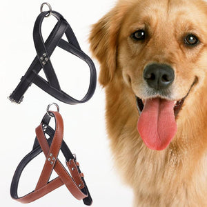 Dog Collar Reflective Rope PU Handle Adjustable Dog Harness For Small Medium Large Dog Leash
