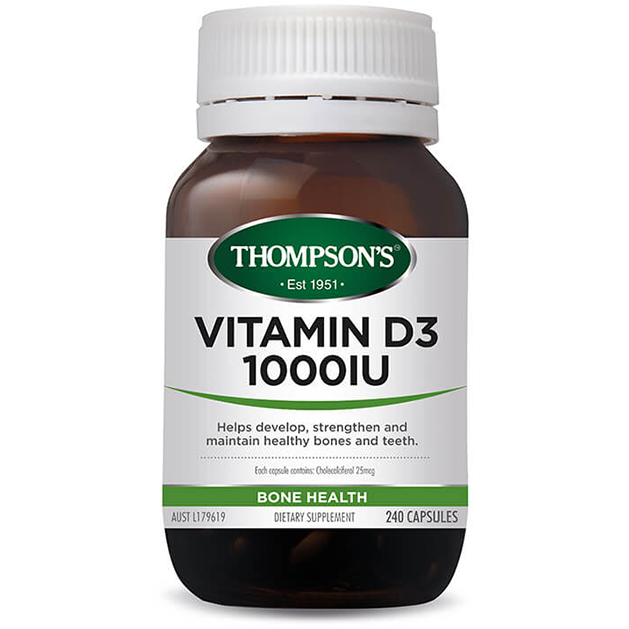 Vitamin D3 - Thompsons Health 240 Capsules