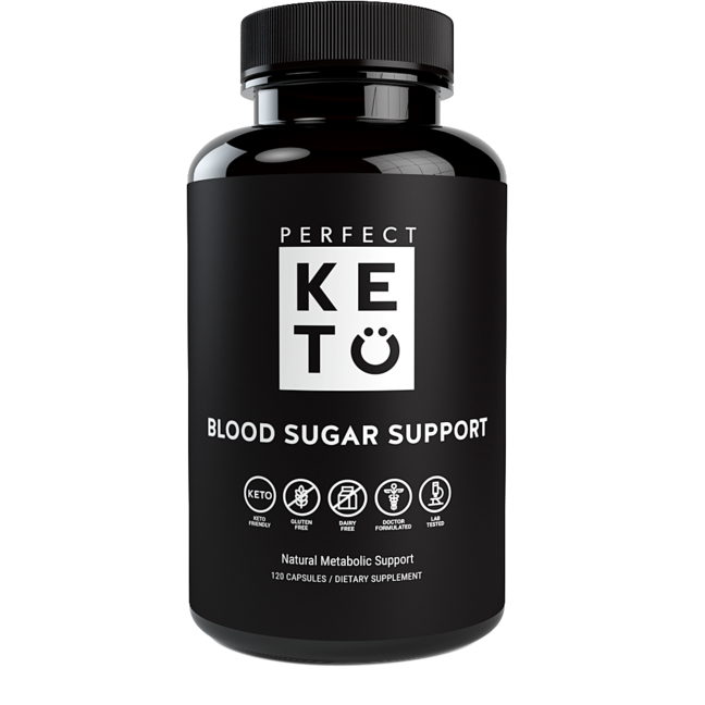 Natural Blood Sugar Support - Perfect Keto 120 Caps