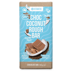 Keto Protein Chocolate - Choc Coconut Rough 100g Bar  BB 30 May