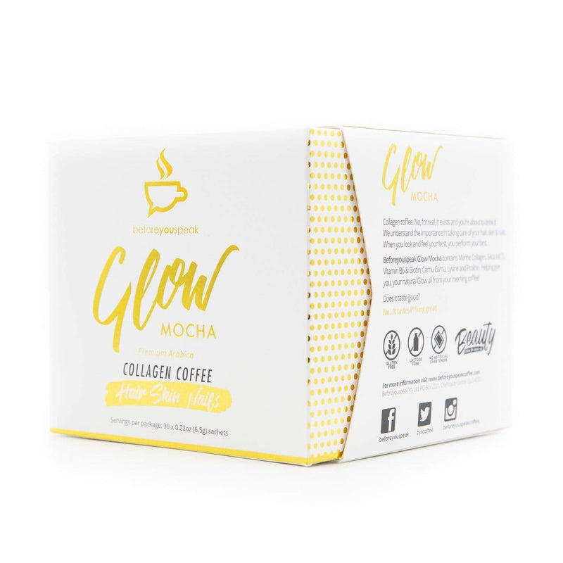 Glow Collagen Coffee - Mocha 30 Sachets - Before you Speak