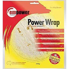 Low Carb Wraps - 7 x 35g - Empower Foods