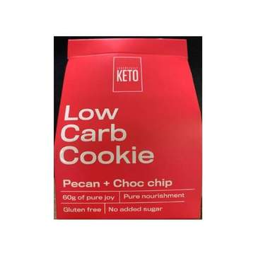 Low Carb Cookie- Pecan Choc Chip - Essentially Keto 2 Pack -60g
