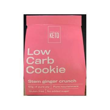 Low Carb Cookie- Stem Ginger Crunch - Essentially Keto 2 Pack -60g