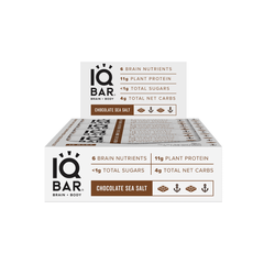 IQ Bar - Choc Sea Salt - Box of 12 -  540g