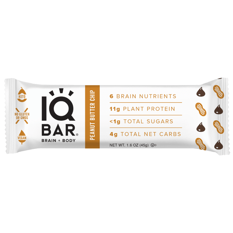 IQ Bar - Peanut Butter Chip - Box of 12 -  540g