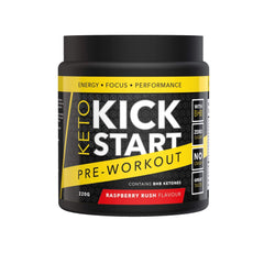 Keto Kick Start Pre Workout - Raspberry Rush 220g