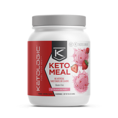 Keto Meal Replacement - Strawberry - Ketologic -  860g