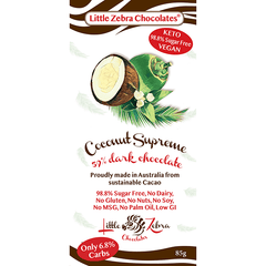 Coconut Supreme Dark Choc- Little Zebra - 85g