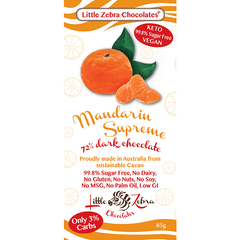 Mandarin Supreme Dark Choc- Little Zebra - 85g