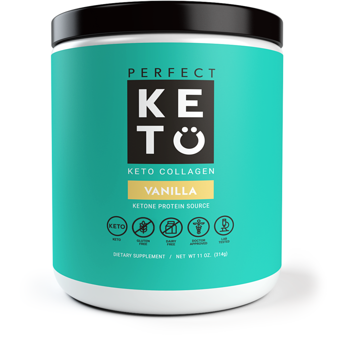 Keto Collagen Low Carb Protein with MCT - Vanilla 314g